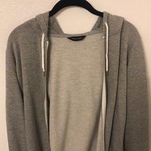 ASOS New Look Long Gray Hoodie